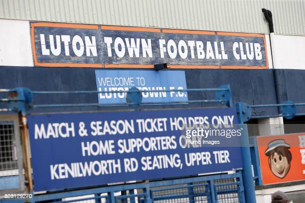 Kenilworth Road ahead of the pre season friendly between Luton Town and Leicester City on July 26th 2017 in Luton United Kingdom