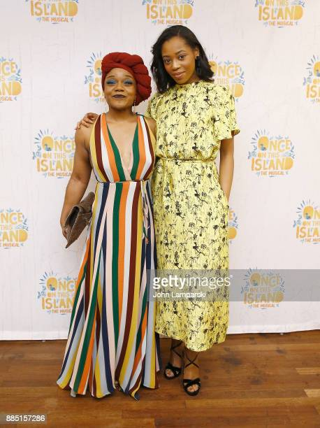 Kenita R Miller and Hailey Kilgore attends Once On This Island Broadway opening night after party at Copacabana on December 3 2017 in New York City