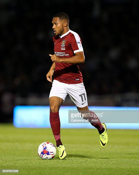 Kenji Gorre of Northampton Town during the EFL Cup match between Northampton Town and Manchester United at Sixfields on September 21 2016 in...