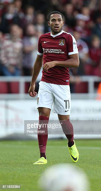 Kenji Gorre of Northampton Town in action during the Sky Bet League One match between Northampton Town and Bristol Rovers at Sixfields Stadium on...