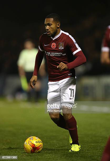 Kenji Gorre of Northampton Town in action during the Sky Bet League One match between Gillingham and Northampton Town at Priestfield Stadium on...