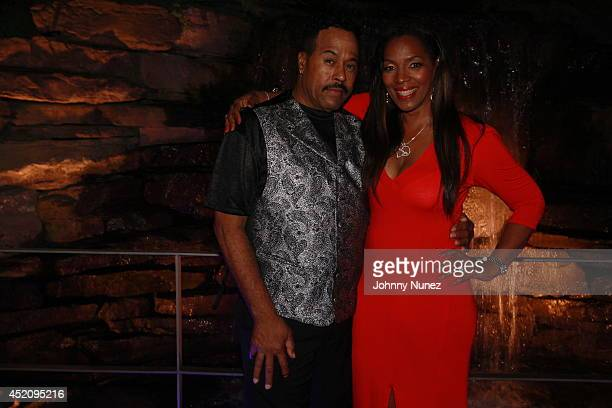 KenKaide Thomas Douglas and Tina Douglas attend Tina's Forever Young Birthday Extravaganza at Crest Hollow Country Club on July 12 2014 in Woodbury...