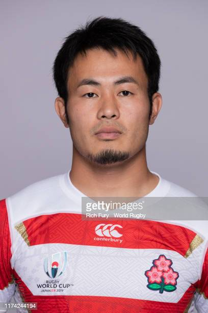 Kenki Fukuoka of Japan poses for a portrait during the Japan Rugby World Cup 2019 squad photo call on September 12, 2019 in Tokyo, Japan.