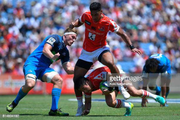 Kenki Fukuoka of Sunwolves during the Super Rugby match between the Sunwolves and the Blues at Prince Chichibu Stadium on July 15 2017 in Tokyo Japan