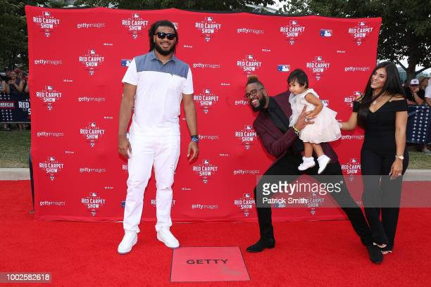 Kenley Jansen of the Los Angeles Dodgers and the National League and Felipe Vazquez of the Pittsburgh Pirates and the National League attend the 89th...