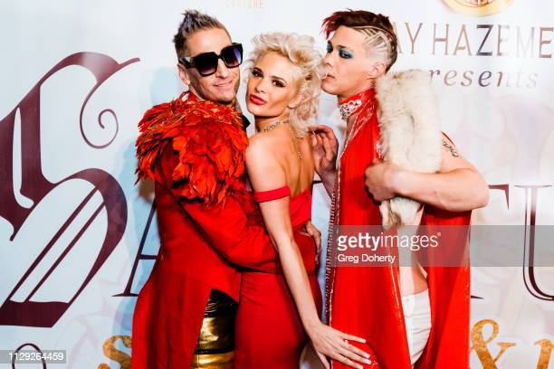 Kenn Gray Ava Capra and Korrie Hayes at Sanctuary Fashion Week on March 7 2019 in Los Angeles California