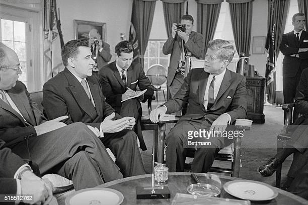 Kennedy and Gromyko meet Washington Soviet Foreign Minister Andrei Gromyko meets with President Kennedy at the White House today for a review of...