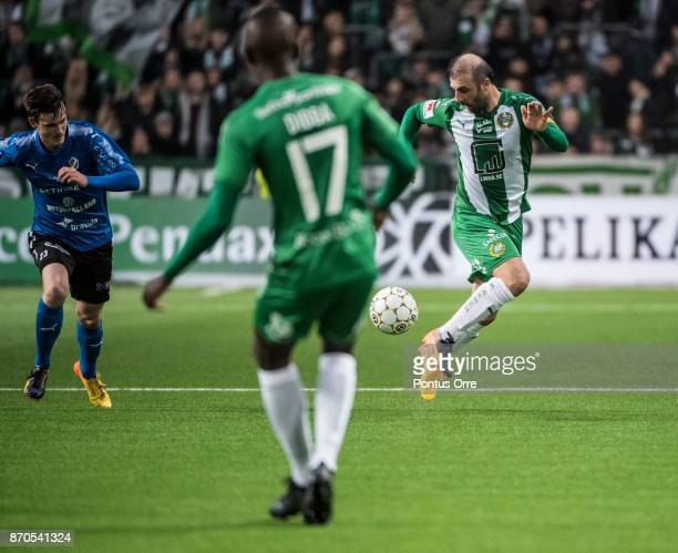 Kennedy Bakircioglu of Hammarby IF during the Allsvenskan match between Hammarby IF and Halmstad BK at Tele2 Arena on November 5 2017 in Stockholm...