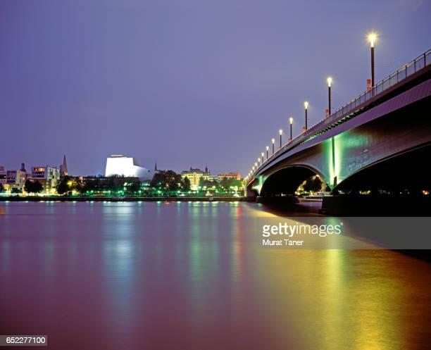 Kennedy Bridge and Opera Building in Bonn