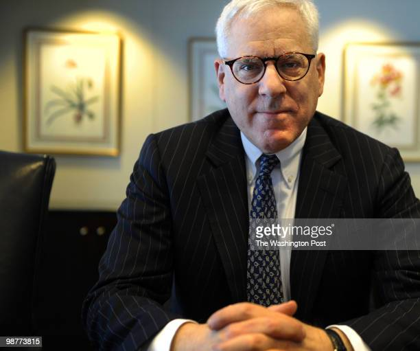 Kennedy Center board chairman David Rubenstein photographed at his Carlyle Group office on April 27 2010 in Washington DC