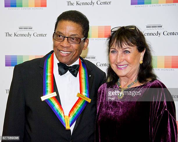 Kennedy Center Honor recipient Herbie Hancock and his wife Gigi arrives for the formal Artist's Dinner honoring the recipients of the 39th Annual...