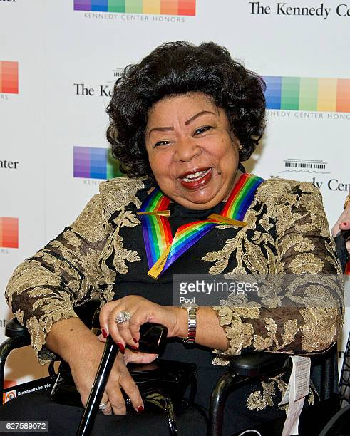 Kennedy Center Honor recipient Martina Arroyo arrives for the formal Artist's Dinner honoring the recipients of the 39th Annual Kennedy Center Honors...
