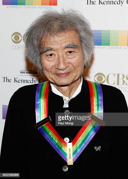 Kennedy Center honoree conductor Seiji Ozawa attends the 38th Annual Kennedy Center Honors Gala at John F Kennedy Center for the Performing Arts on...