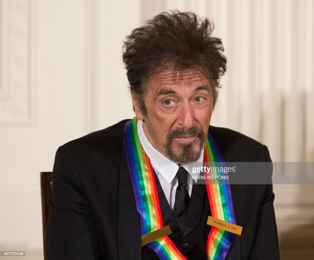 Kennedy Center Honoree, screen and stage actor Al Pacino, attends a reception with fellow honorees at the White House on December 4, 2016 in Washington, DC. /