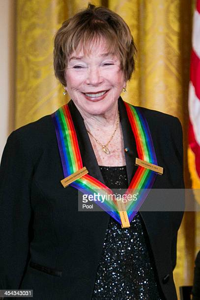Kennedy Center Honoree Shirley MacLaine attends a reception at the White House for the 2013 Kennedy Center Honorees on December 8 2013 in Washington...
