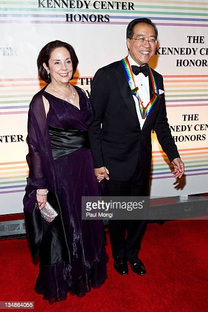 Kennedy Center Honoree YoYo Ma and Jill Hornor arrive at the 34th Kennedy Center Honors at the Kennedy Center Hall of States on December 4 2011 in...