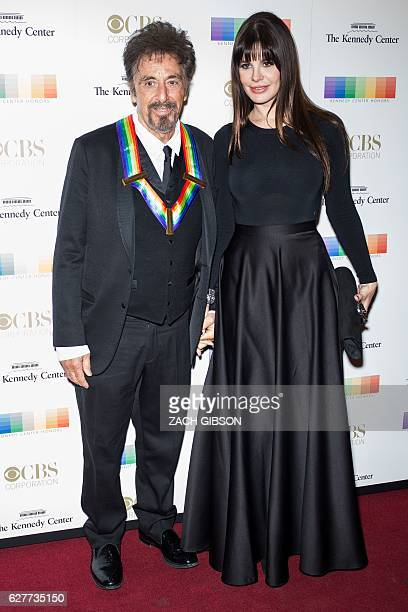 Kennedy Center Honors Recipient Al Pacino poses on the red carpet with Lucila Sola before the 39th Annual Kennedy Center Honors December 4 2019 in...