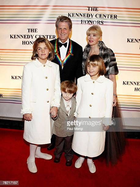 Kennedy Center Honors recipient Brian Wilson and his wife Melinda Ledbetter and their children and their children Daria Dylan and Delanie pose for...