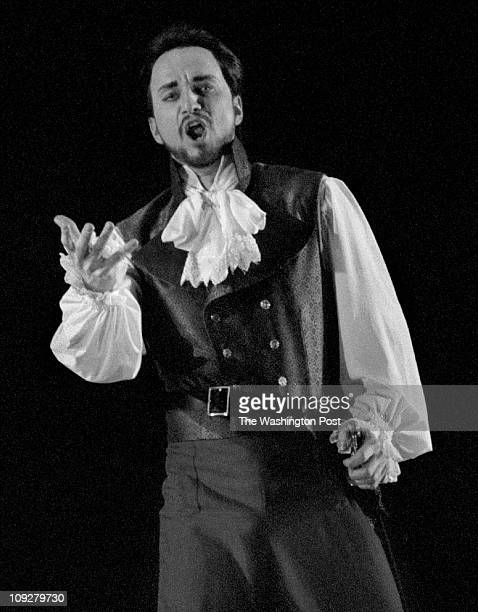 03/06/98 Kennedy Center Rehearsal for the opera Don Giovanni Dwayne Croft as Don Giovanni Photo By Michael Williamson TWP
