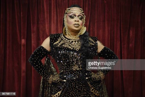 Kennedy Davenport poses backstage at RuPaul's DragCon World of Queens at the Orpheum Theatre on May 12 2018 in Los Angeles California