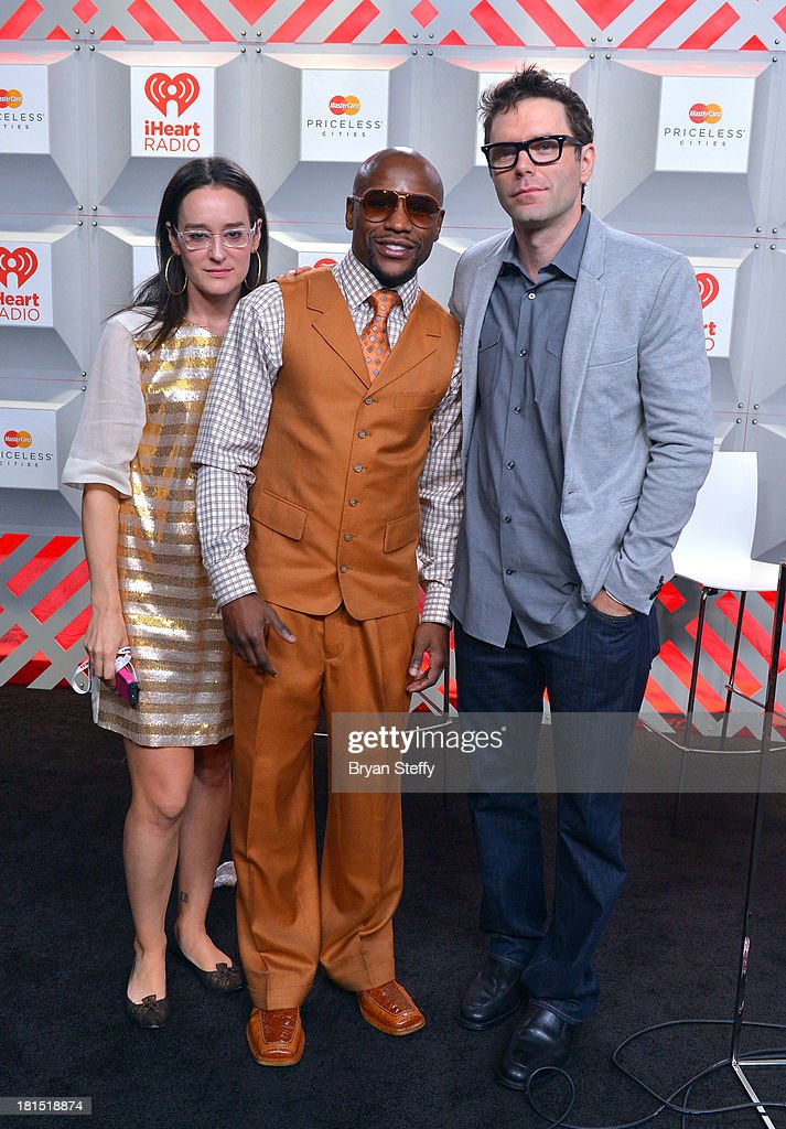 Kennedy, Floyd Mayweather Jr. and Bobby Bones attend the iHeartRadio Music Festival at the MGM Grand Garden Arena on September 21, 2013 in Las Vegas, Nevada.