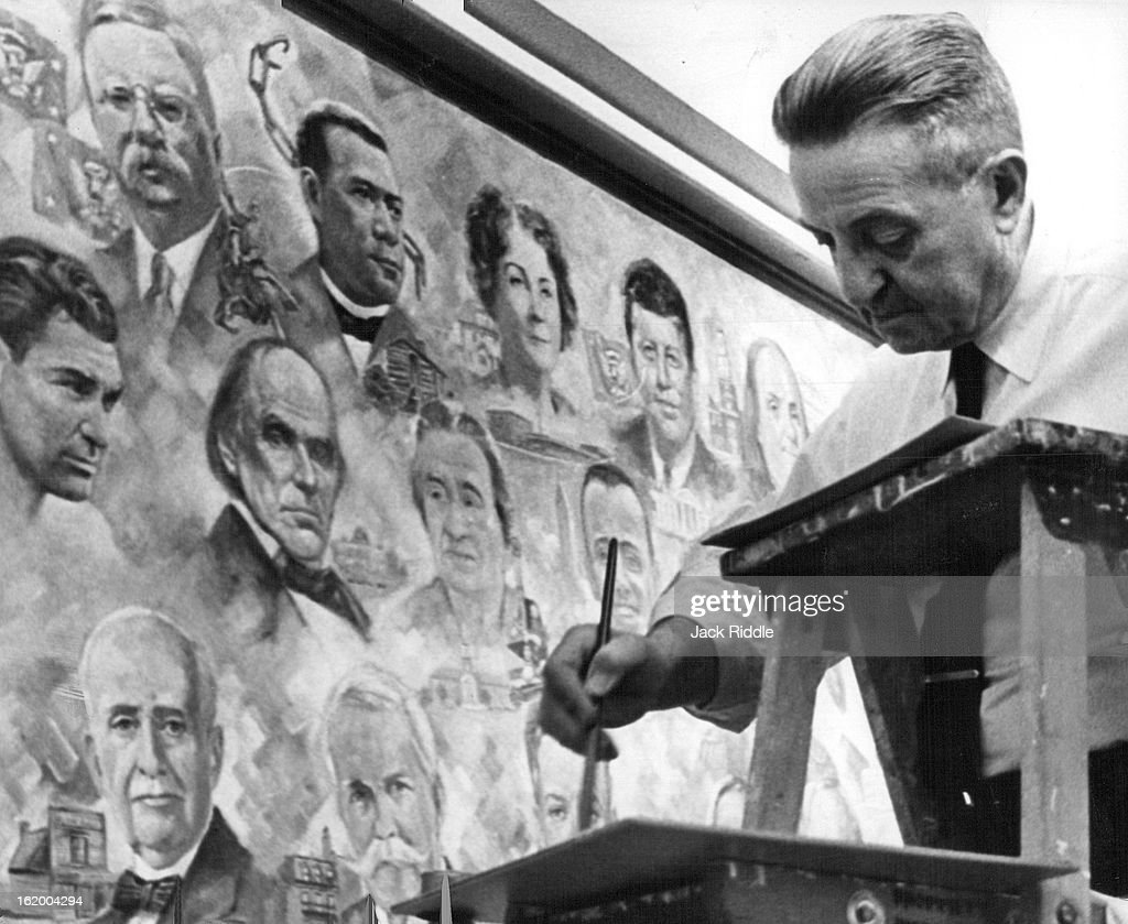 MAY 24 1961, MAY 25 1961; Kennedy Joins 'Outstanding Americans'; Herndon Davis, artist, is bringing  : News Photo