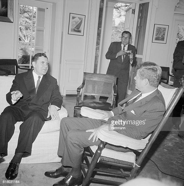 Kennedy meets with Gromyko. Washington: President Kennedy meets with Soviet Foreign Minister Andrei Gromyko at the White House today amid rising...