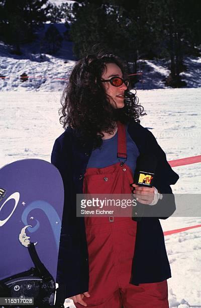 Kennedy MTV VJ during Board Aid Lifebeat Benefit 3151995 at Big Bear California United States