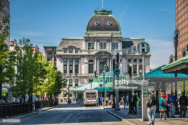 kennedy plaza-providence - providence rhode island stock photos and pictures