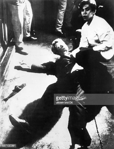 Kennedy Robert Politiker USA Kennedy liegt nach dem Attentat im Hotel Ambassador in Los Angeles auf dem Boden