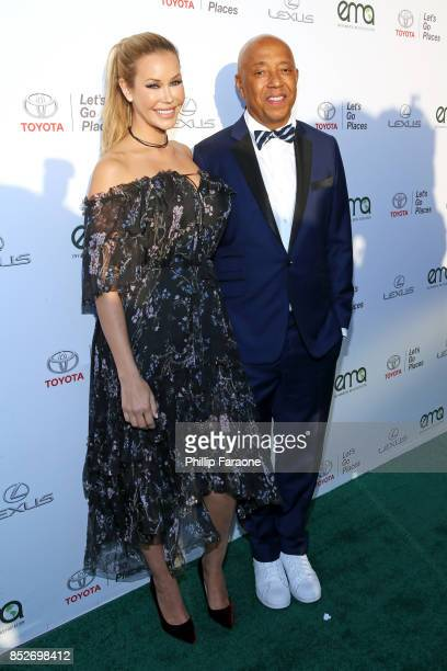 Kennedy Summers and Russell Simmons at the Environmental Media Association's 27th Annual EMA Awards at Barkar Hangar on September 23 2017 in Santa...