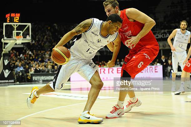 Kennedy Winston of Canadian Solar Bologna in action during the Lega Basket Serie A match between Canadian Solar Virtus Bologna and Armani Jeans...
