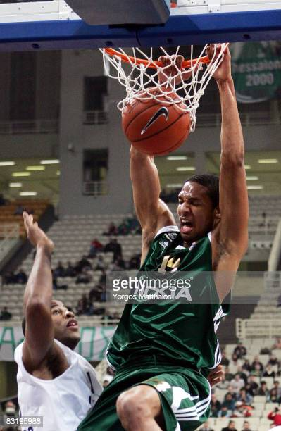 Kennedy Winston of Panathinaikos in action during the Euroleague Basketball Game 12 between Panathinaikos Athens vs Chorale Roanne at the Peace and...