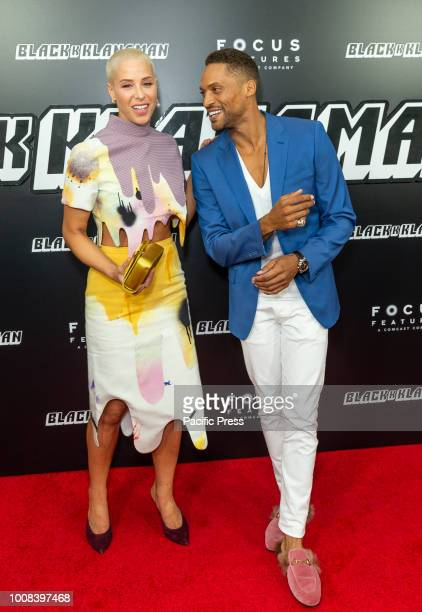 Kennedy Yanko and Cleo Anthony attend BlacKkKlansman premiere at BAM Harvey Theater
