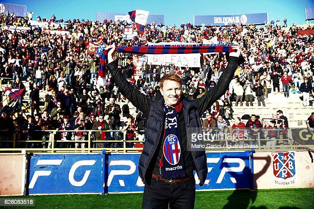 Kennet Andersson former player of Bologna FC attends the Serie A match between Bologna FC and Atalanta BC at Stadio Renato Dall'Ara on November 27...