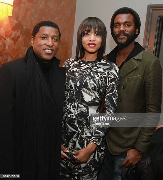 Kenneth 'Babyface' Edmonds Alice Smith and Gary Clark Jr attend Alice Smith's performance at Bowery Ballroom on December 4 2013 in New York City