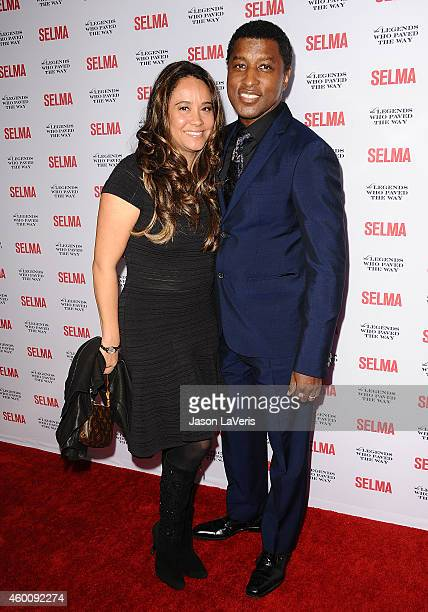 Kenneth Babyface Edmonds and Nicole Edmonds attend the Selma and the Legends Who Paved the Way gala at Bacara Resort on December 6 2014 in Goleta...