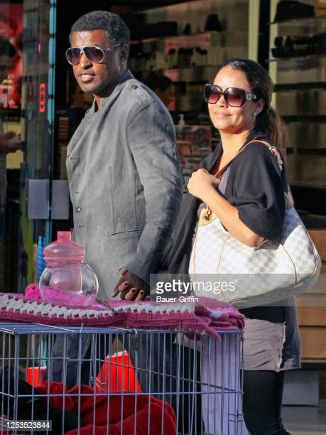 Kenneth 'Babyface' Edmonds and Nicole Pantenburg are seen on May 25 2011 in Los Angeles California