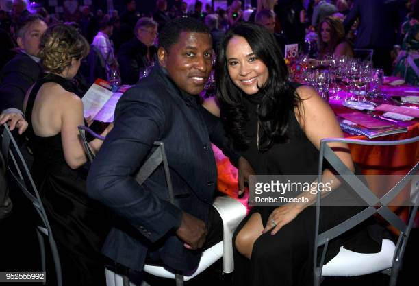 Kenneth Babyface Edmonds and Nicole Pantenburg attend the 22nd annual Keep Memory Alive 'Power of Love Gala' benefit for the Cleveland Clinic Lou...