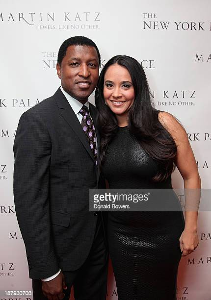Kenneth 'Babyface' Edmonds and Nikki Patenberg attend The Martin Katz Jewel Suite Debuts At The New York Palace Hotel on November 13 2013 in New York...