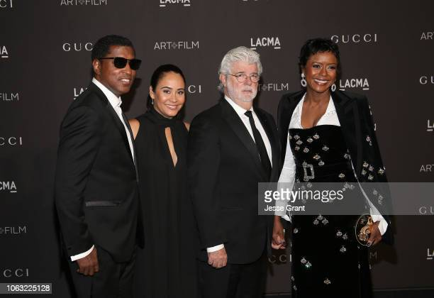 Kenneth 'Babyface' Edmonds Nicole Pantenburg George Lucas and Mellody Hobson attend the 2018 LACMA Art Film Gala at LACMA on November 03 2018 in Los...