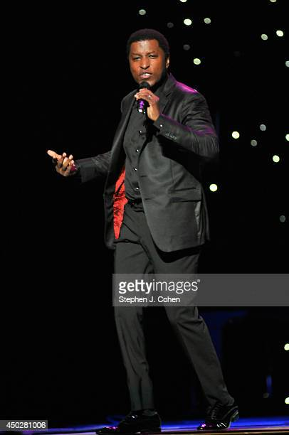 Kenneth 'Babyface' Edmonds performs during the 2014 Midwest Music Festival at the KFC YUM Center on June 7 2014 in Louisville Kentucky