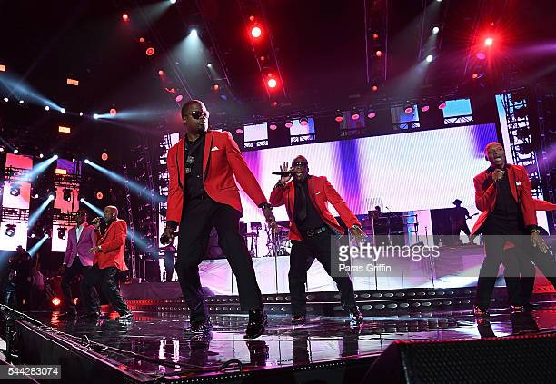 Kenneth Babyface Edmonds performs with New Edition perform onstage at 2016 Essence Festival at Louisiana Superdome on July 1 2016 in New Orleans...