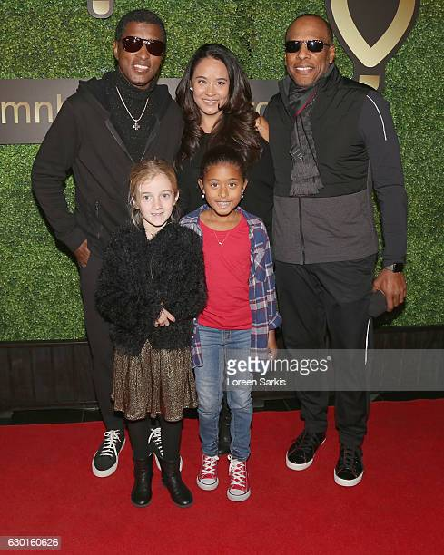 Kenneth 'Babyface' Edmonds with his family attends 'Dance For Kids Holiday Party' presented by Children's Miracle Network Hospitals at Avalon...