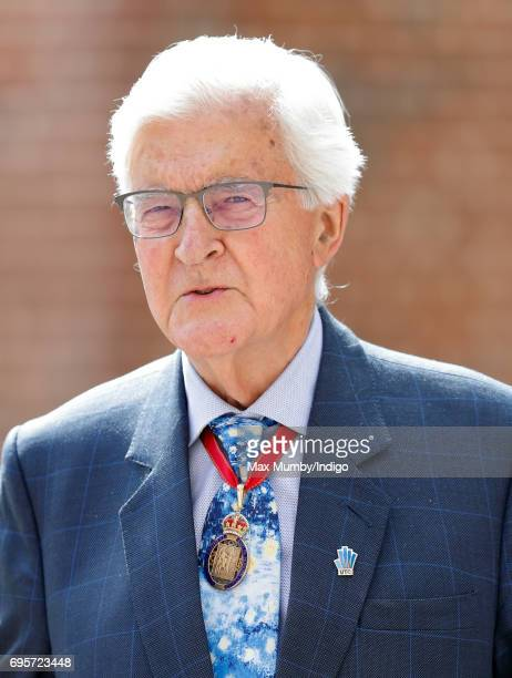 Kenneth Baker Baron Baker of Dorking arrives to attend Evensong at the Chapel Royal Hampton Court Palace to celebrate the Centenary of the founding...