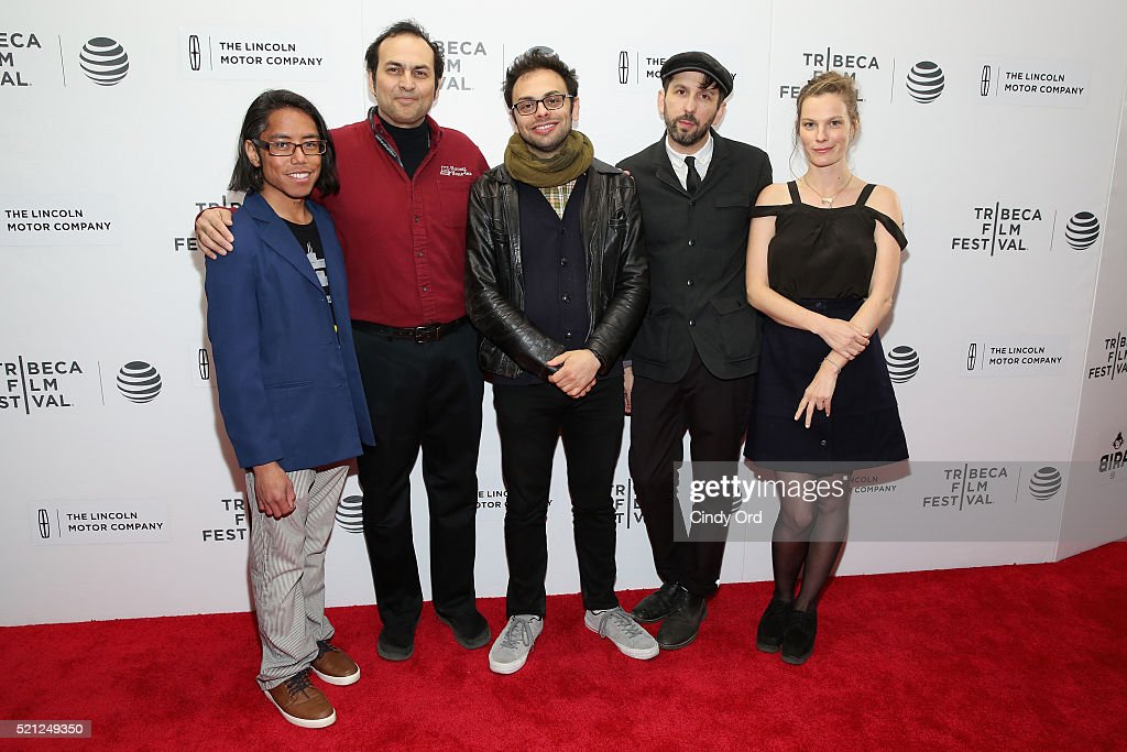 Kenneth Berba, Arthur Martinez, directors Mike Ott and Nathan Silver and Lindsay Burdge attend the 'Actor Martinez' Premiere during the 2016 Tribeca Film Festival at Regal Battery Park Cinemas on April 14, 2016 in New York City.