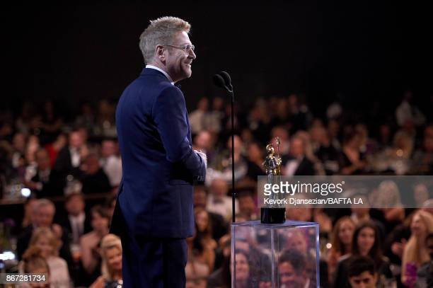 Kenneth Branagh accepts Albert R Broccoli Britannia Award for Worldwide Contribution to Entertainment at the 2017 AMD British Academy Britannia...