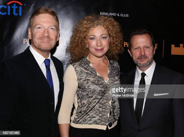 Kenneth Branagh Alex Kingston and Rob Ashford attend the Opening Night Dinner Party for 'Macbeth' at the Park Avenue Armory on June 5 2014 in New...