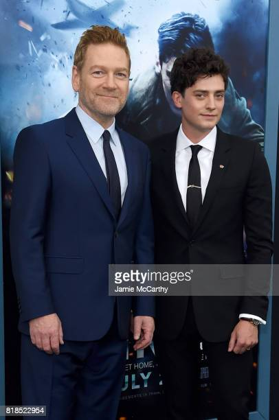 Kenneth Branagh and Aneurin Barnard attend the 'DUNKIRK' New York Premiere on July 18 2017 in New York City