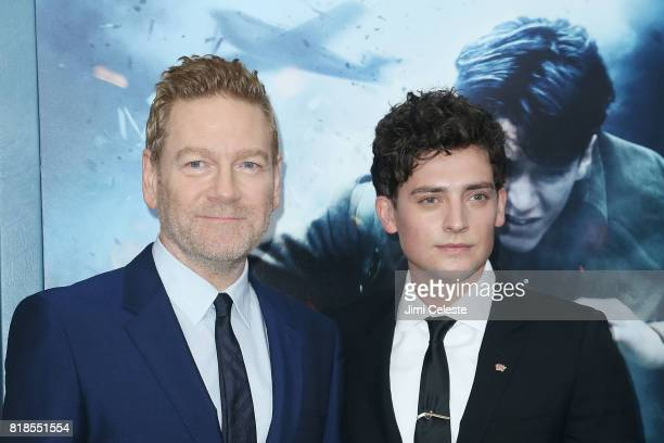 Kenneth Branagh and Aneurin Barnard attend the US premiere of 'Dunkirk' at AMC Loews Lincoln Square IMAX on July 18 2017 in New York City